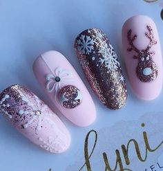 Christmas is approaching. Is your Christmas nails ready? Are sweater nails popular this year, or classic red nails, or a Cute Christmas Nails, Christmas Nail Art Designs, Xmas Nails, Holiday Nails, Halloween Nails, Nail Art Noel, Sweater Nails, Winter Nail Art, Manicure E Pedicure