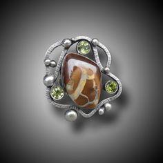Koroit Opal and Sterling Silver ring B. Sasik