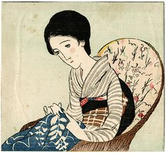 Wicker Chair by Takehisa Yumeji / 藤椅子 竹久夢二