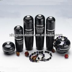glass bottle design of 30ml-120ml black colored cosmetic packing bottle $0.55~$0.85