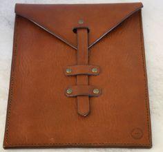 Handmade leather ipad tablet sleeve, leather goods