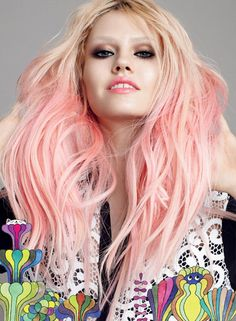 Pictures : Celebrities with the Best Pink Hair Color - Charlotte Free With Pink Hair Color Hair Color Pink, Pink Hair, Hair Colors, Peach Hair, Ombre Hair, Charlotte Free, Candy Hair, Blonde With Pink, Hair Chalk