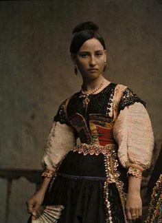 Jules Gervais-Courtellemont, Portrait of Young Spanish Woman, ca 1914