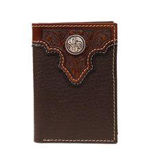 Ariat Mens Western Wallet Bifold Flipcase Kryptek Camo Brown A35192156