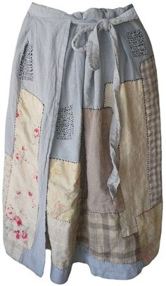 Magnolia Pearl: Crazy quilt Nelly Wrap Skirt