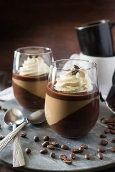 Mocha Panna Cotta with Mascarpone Cream - Layer upon layer of ...