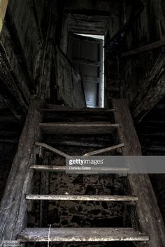 Dark Basement Stock Getty Images Door In Dark Basement Highres Stock Photo Getty Images Abandoned Buildings, Abandoned Places, Creepy Clown Pictures, Dark Basement, Image Nature, Stairway To Heaven, Dark Places, Haunted Places, Cthulhu