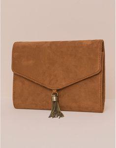 Pull&Bear - mujer - bolsos y mochilas - bolso terciopelo - mostaza - 05821306-V2016