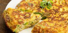 Tortilla espagnole au thon et aux courgettes