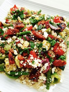 One of the main reasons I decided to focus on recipes when I started the Cold Coffee Club blog was because whenever I made the family a winning dinner, I could never remember what I put in it, or h… Mediterranean Couscous Salad, Coffee Club, Rabbit Food, Healthy Summer, Cobb Salad, Salad Recipes, Salads, Menu, Sensory Boards