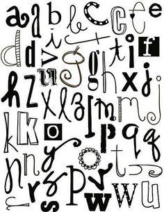 Abecedarios en blanco y negro para imprimir , diferentes abecedarios con diferentes tipos de letras para imprimir, recortar y pegar. Haz tus...