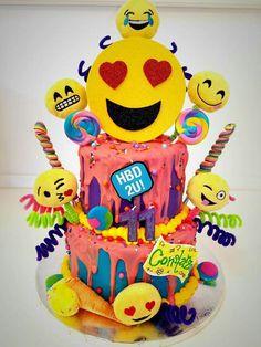 Emoji birthday cake!