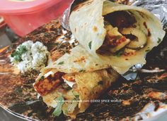 Lefse Wraps with Grilled Paneer Norwegian Cuisine, Norwegian Food, Grilled Paneer, Punjabi Cuisine, Flat Pan, Flat Bread, Roasted Almonds, Fresh Coriander, Wrap Recipes