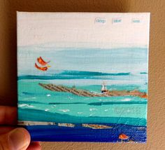 Deep Blue Sea Mini Painting Home Decor by thebluewindmill on Etsy