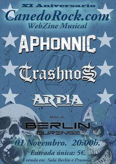 Aphonic + Trashnos + Arpia en Sala Berlín, Ourense