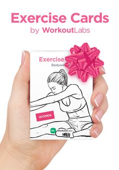 Perfect holiday gift and stocking stuffer for anyone into fitness and working out! Exercise Cards by WorkoutLabs, get them at http://WLshop.co