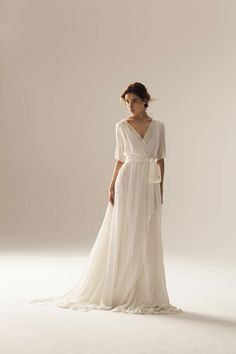 Wonderful Perfect Wedding Dress For The Bride Ideas. Ineffable Perfect Wedding Dress For The Bride Ideas. Sexy Wedding Dresses, Bridal Dresses, Wrap Wedding Dress, British Wedding Dresses, Plain Wedding Dress, Simple Wedding Gowns, Modest Wedding, Event Dresses, Wedding Dress Casual