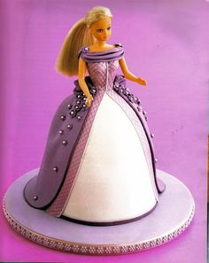 Barbie Cake - click forward to see recipe and photo tutorial (download Pics to see them bigger)