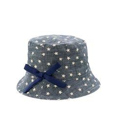 Girls' bucket hat in twinkle chambray
