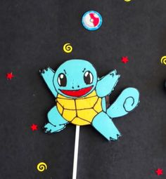 Learn to make easy Pokémon Go Squirtle lollipops with everyday kitchen items and candy melts at home.