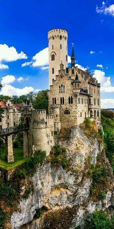 The Lichtenstein castle in Germany. The Lichtenstein castle in Germany. Beautiful Castles, Beautiful Buildings, Beautiful Places, Places Around The World, Travel Around The World, Around The Worlds, Castle Ruins, Medieval Castle, Places To Travel