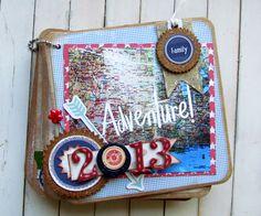 Super cute Vacation Mini Album from Dottess Holly at Ribbons  & Glue!  #GlueDots