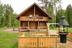 Viajes a Finlandia con niños.  Alojamiento en cabañas en Finlandia