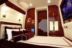 Mercedes Benz Sprinter with luxury bedroom