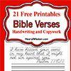 Free Printable Handwriting Bible Verses | Heart of Wisdom