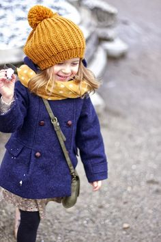 Vivi & Oli-Baby Fashion Life: Navy blue & mustard