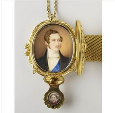 A wedding gift from Prince Albert to Queen Victoria, miniature on bracelet, 1840.