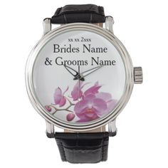Orchids Inexpensive Wedding Packages Sets Kits Wrist Watch - bride gifts bridal ideas unique personalize