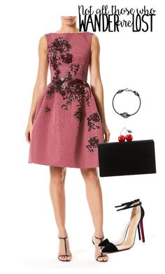 """dress"" by masayuki4499 ❤ liked on Polyvore featuring Carolina Herrera and Edie Parker"
