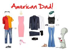 """American Dad!"" by nick-alena-delliveneri ❤ liked on Polyvore featuring Topman, Corneliani, Tommy Hilfiger, Calvin Klein, Emanuel Ungaro, Altuzarra, Dolce&Gabbana, Topshop, STELLA McCARTNEY and Amery Carriere Designs"