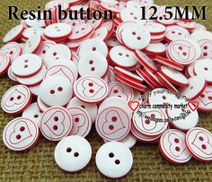 200PCS heart shape buttons bulk clothes sewing accessories clothing button crafts and scrapbooking R-071 $3,73