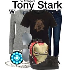 Inspired by Robert Downey Jr as Tony Stark in the Marvel film franchise - Shopping info! Marvel Inspired Outfits, Disney Themed Outfits, Character Inspired Outfits, Disney Bound Outfits, Marvel Costumes, Hero Costumes, Tv Show Outfits, Fandom Outfits, Marvel Fashion