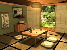 Japanese Traditional Living Room Style My Lovely Home Japanese Living Rooms, Japanese House, Mediterranean Living Rooms, Japanese Interior Design, Simple Furniture, Japanese Furniture, Asian Home Decor, Decoration, Traditional Japanese
