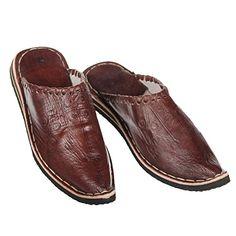 Marokkanischer Lederschuh Babouches unisex Pantoffel Alibaba mocca Gr.37-46 orientalische Schuhe - http://on-line-kaufen.de/albena-marokko-galerie/marokkanischer-lederschuh-babouches-unisex-gr-9