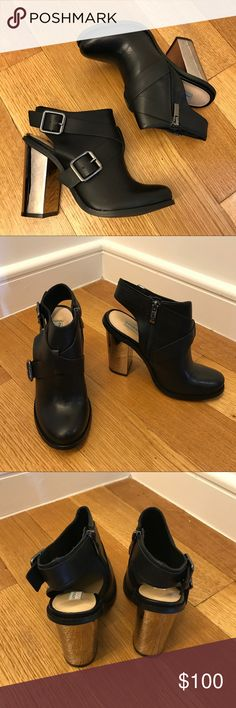 Chinese Laundry x Kristin Cavallari Remi Boots new without box • slingback booties featuring chunky mirrored heels • size states 7/37.5 • save $ via pp :) Chinese Laundry Shoes Ankle Boots & Booties