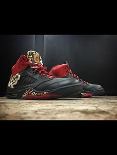 c3737624864 Enzo Amore Air Jordan 5 Leopard Custom by Mache