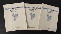Vintage Suzuki Violin School Books Volumes 3, 4 And 5 Method Music 1978
