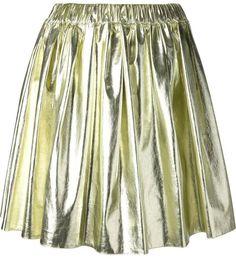 €125, Goldener Skaterrock von MSGM. Online-Shop: farfetch.com. Klicken Sie hier für mehr Informationen: https://lookastic.com/women/shop_items/131850/redirect