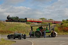 """""""The GWR Anniversary starring City of Truro and featuring a Blower Bentley and a steam roller. Oh happy day. Isambard Kingdom Brunel, Victorian History, Old Steam Train, Steam Railway, Old Trains, Train Journey, Industrial Revolution, Steam Engine, Steam Locomotive"""
