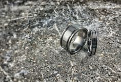 "So cool, never goes out of style ! Inspired from James Cameron's 1989 cult movie ""The Abyss"", this sturdy, all Titanium ring has become an increasingly popular and classic wedding band over the years.  Many of our classic bands are customizable - add an inset or tension set gemstone, or create your own color combination from a variety of finishes and vibrant anodized colors"