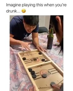 😂😂😂 - Party - Drunk game: get rid of all of the pucks - Funny Vid, Funny Clips, Stupid Funny, Funny Cute, Drunk Games, Funny Games, Family Games, Games For Kids, Drinking Games For Parties