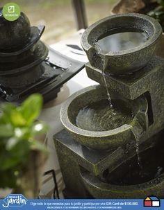 Fuentes de agua para tu #jardin