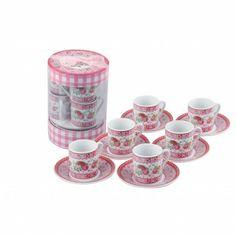 Karaca Apricot Pink Rose Türk Kahvesi Fincan Takımı