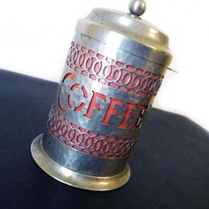 Vintage Decorative Coffee Tin--I have this in cobalt