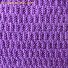 Drizzle Rain Rib knitting stitches