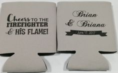 Firefighter Wedding Can Coolers personalized wedding quotes Firefighter Wedding Koozies Fireman Coozies party favors Can Coolers 1120664685 Wedding Quotes, Wedding Tips, Our Wedding, Wedding Planning, Dream Wedding, Wedding Bells, Wedding Stuff, Party Wedding, Fall Wedding